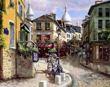 UX004 European Towns Oil Paintings